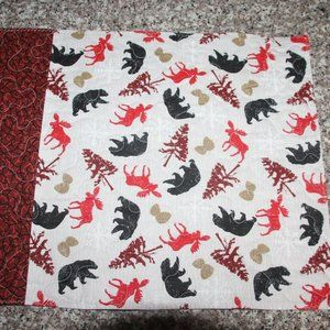 SET OF 4 PLACEMATS - Moose/Bears/Camping/Cabin-New